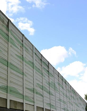 Lärmschutzwand A43 Stadtseite